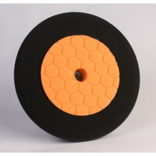 "8"" Orange and Black Buffing Pad"